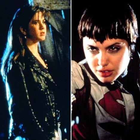 Aniston ilk büyük rolünü 1993 yılında bir korku filmi olan Leprikon'da oynadı... Jolie ise 1995 yılındaki aksiyon filmi Hackers'da...